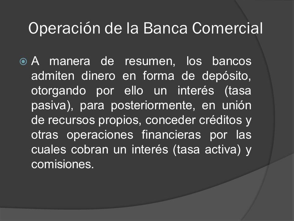 Operación de la Banca Comercial