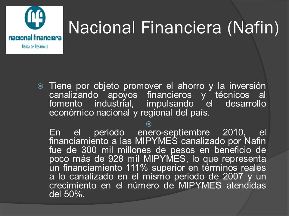 Nacional Financiera (Nafin)
