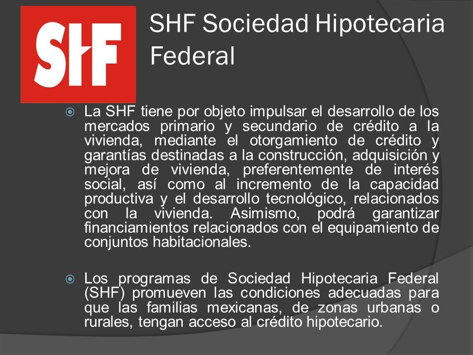 SHF Sociedad Hipotecaria Federal