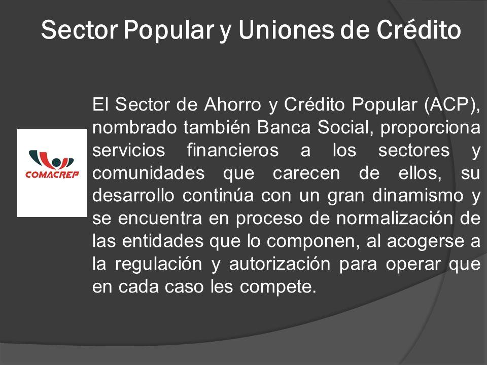 Sector Popular y Uniones de Crédito