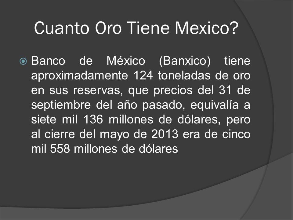 Cuanto Oro Tiene Mexico