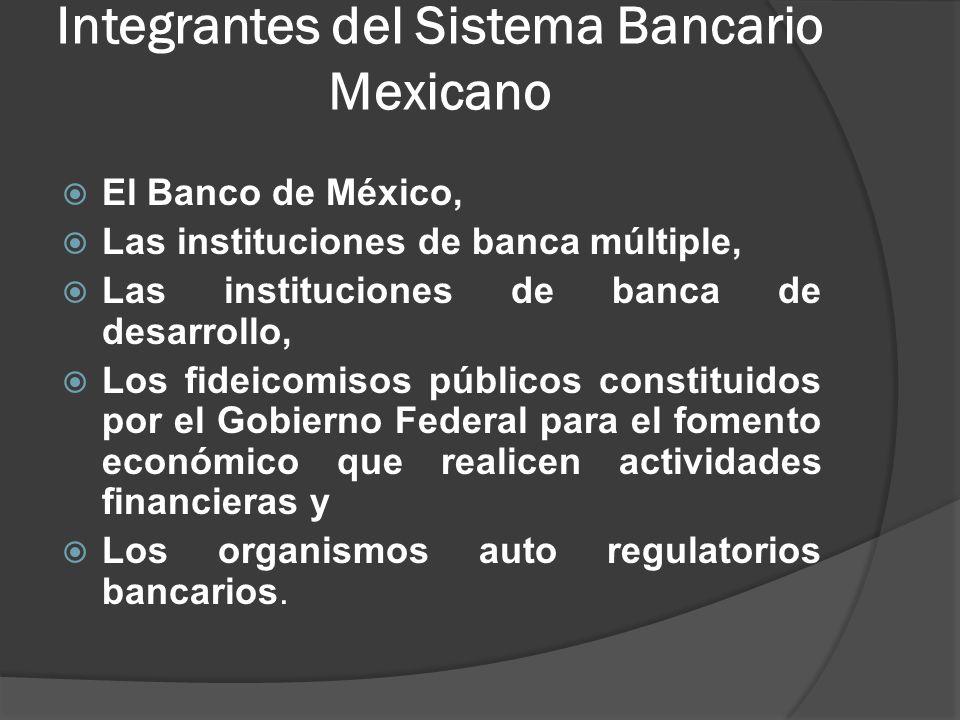 Integrantes del Sistema Bancario Mexicano