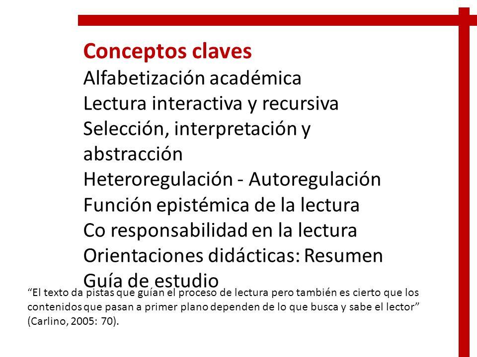 Conceptos claves Alfabetización académica