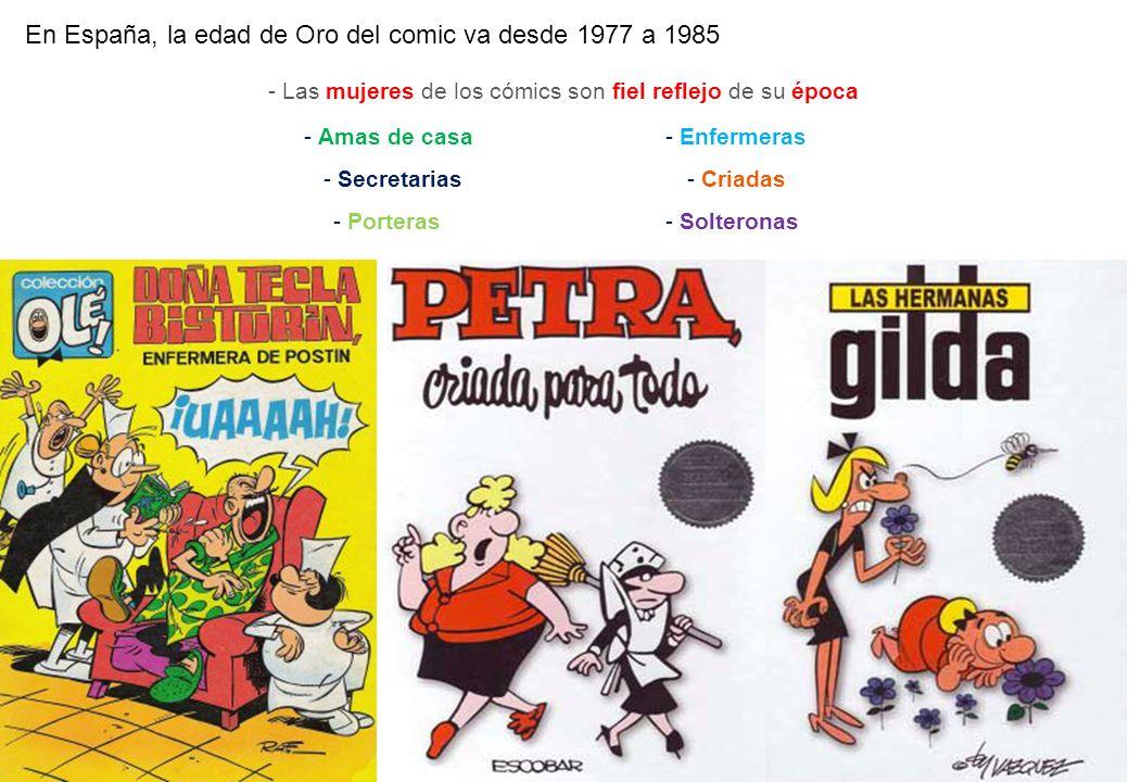 - Las mujeres de los cómics son fiel reflejo de su época