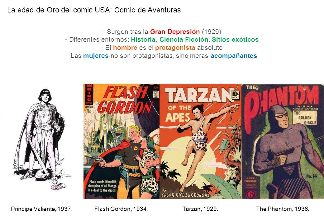 La edad de Oro del comic USA: Comic de Aventuras.