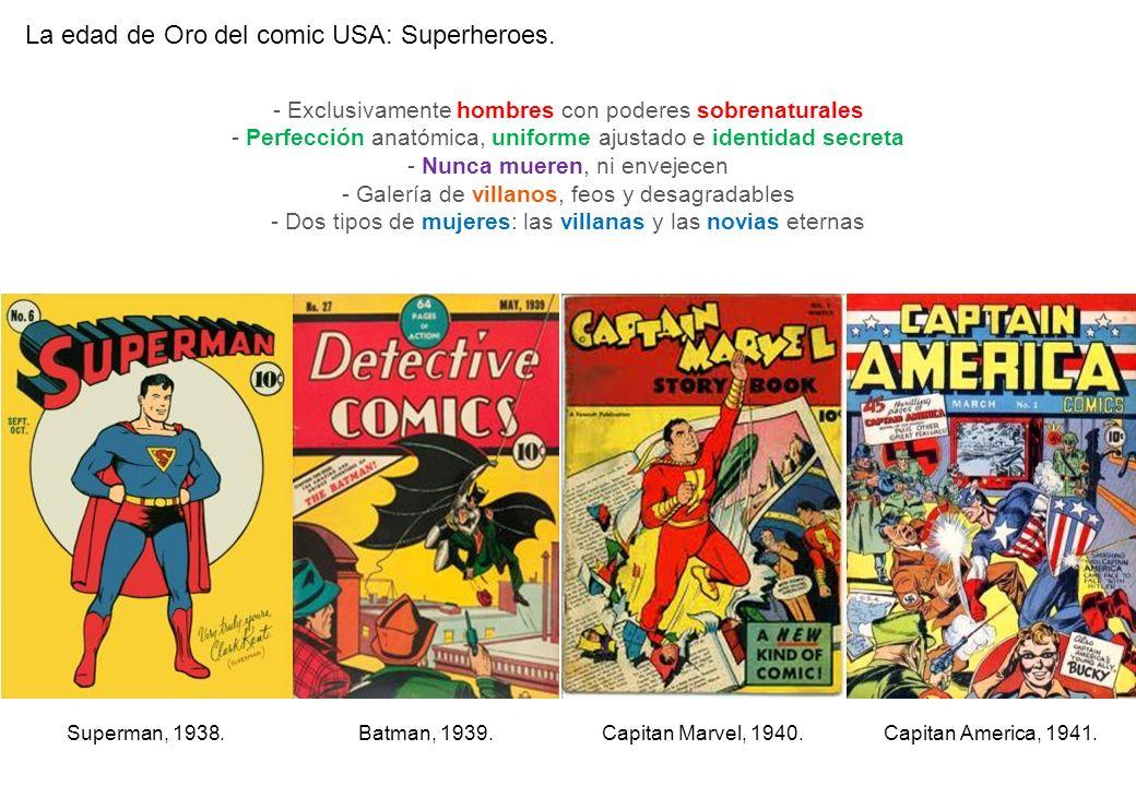 La edad de Oro del comic USA: Superheroes.