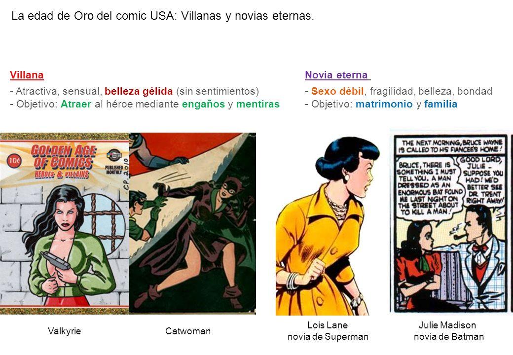 La edad de Oro del comic USA: Villanas y novias eternas.