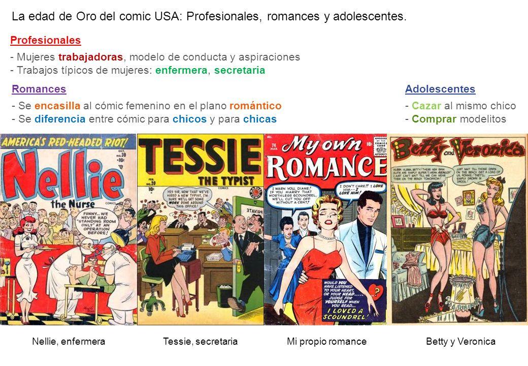 La edad de Oro del comic USA: Profesionales, romances y adolescentes.