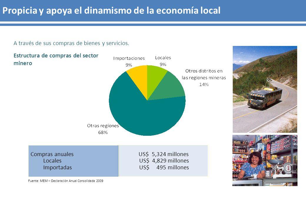 Propicia y apoya el dinamismo de la economía local
