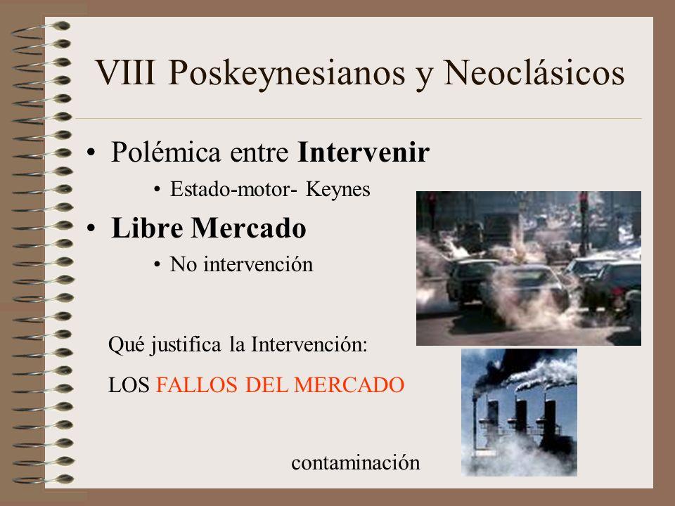 VIII Poskeynesianos y Neoclásicos