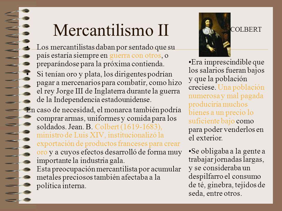 Mercantilismo II COLBERT.