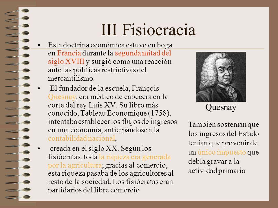 III Fisiocracia Quesnay