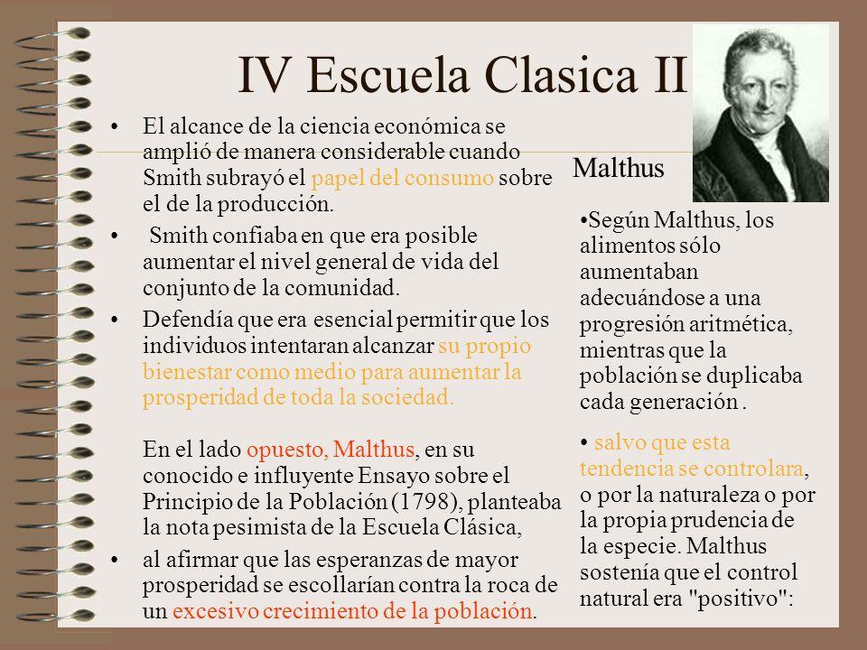IV Escuela Clasica II Malthus