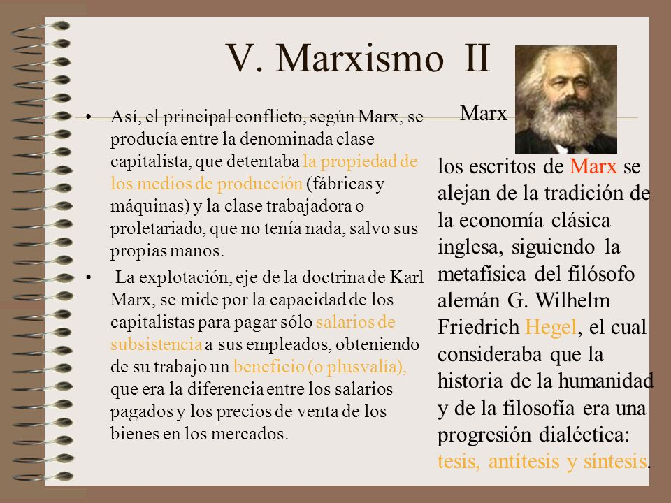 V. Marxismo II Marx.