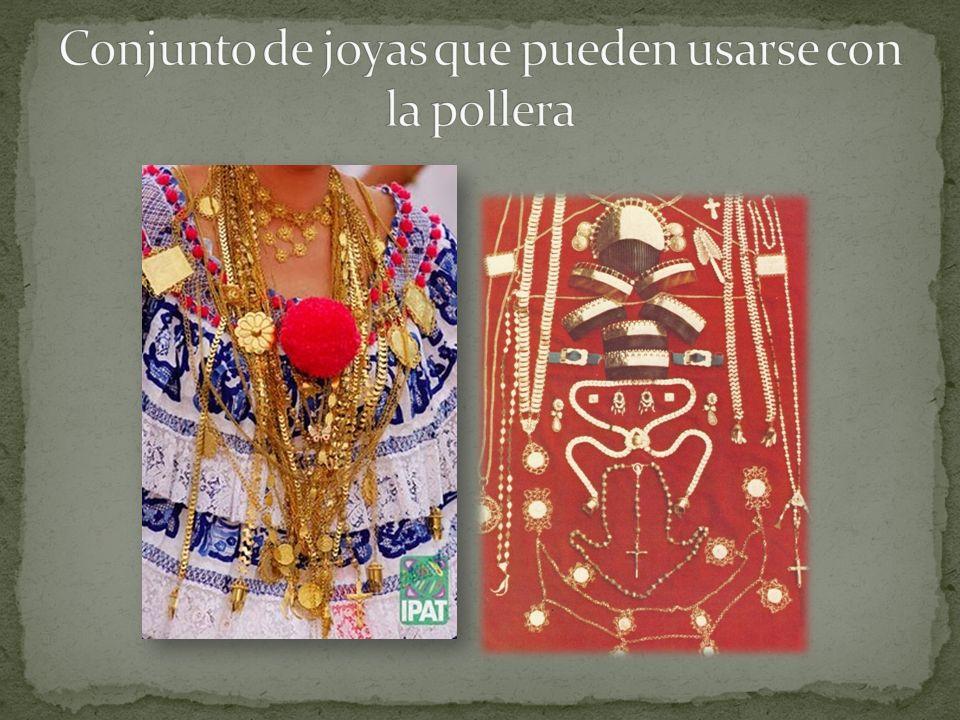 Conjunto de joyas que pueden usarse con la pollera