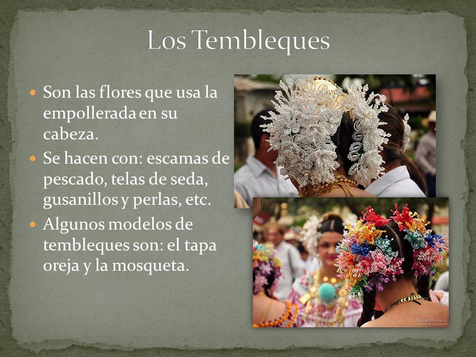 Los Tembleques Son las flores que usa la empollerada en su cabeza.