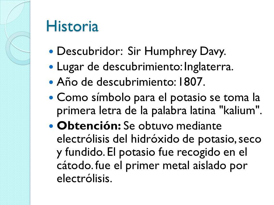 Historia Descubridor: Sir Humphrey Davy.