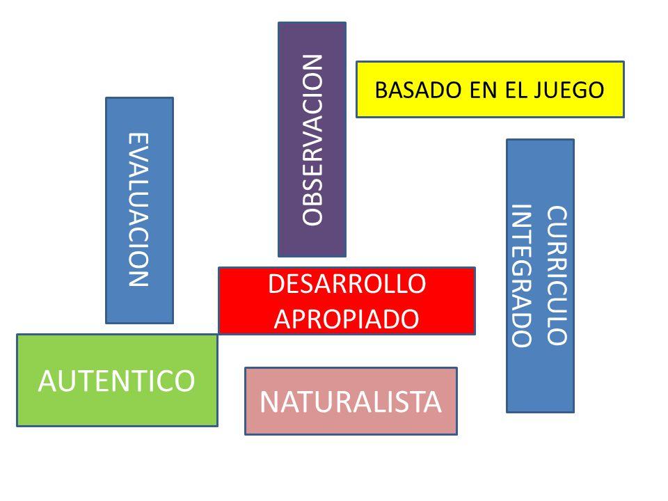 AUTENTICO NATURALISTA OBSERVACION EVALUACION CURRICULO INTEGRADO