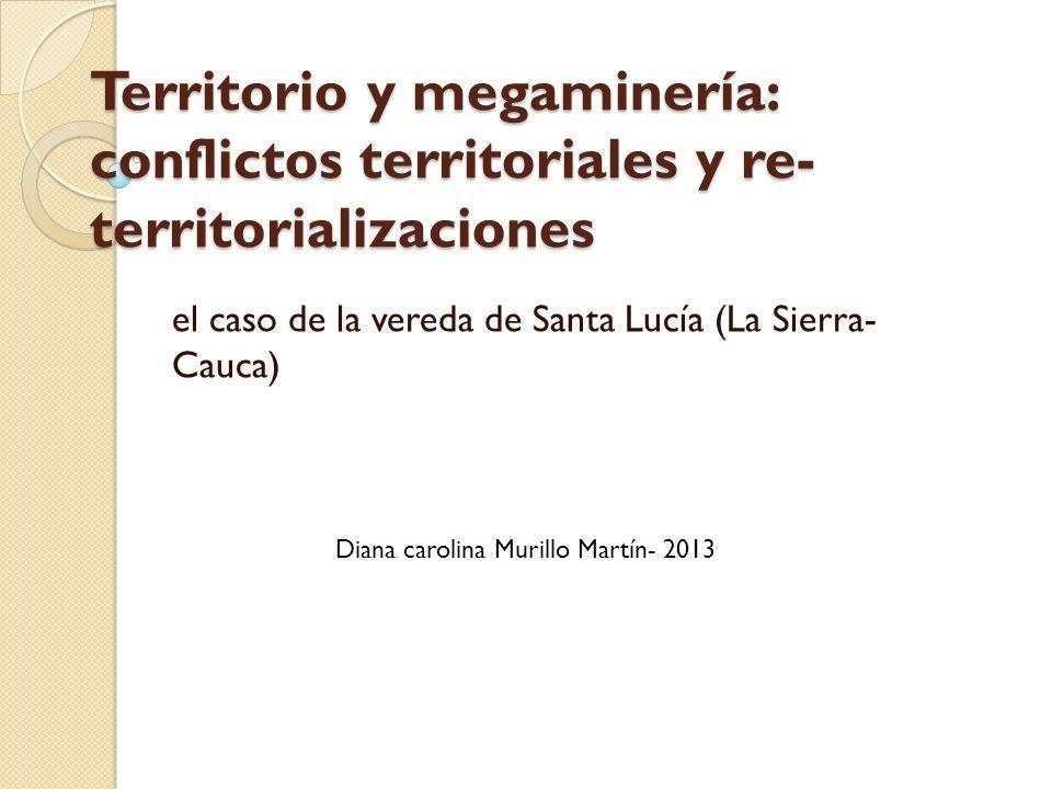 el caso de la vereda de Santa Lucía (La Sierra- Cauca)