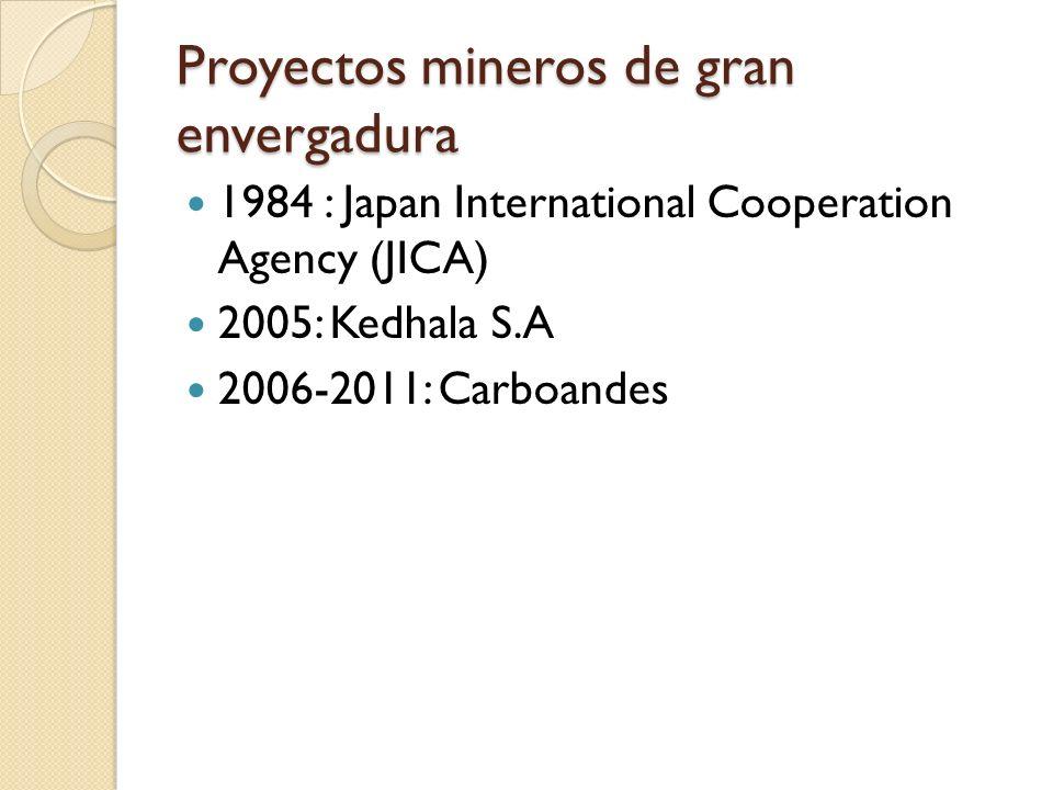 Proyectos mineros de gran envergadura