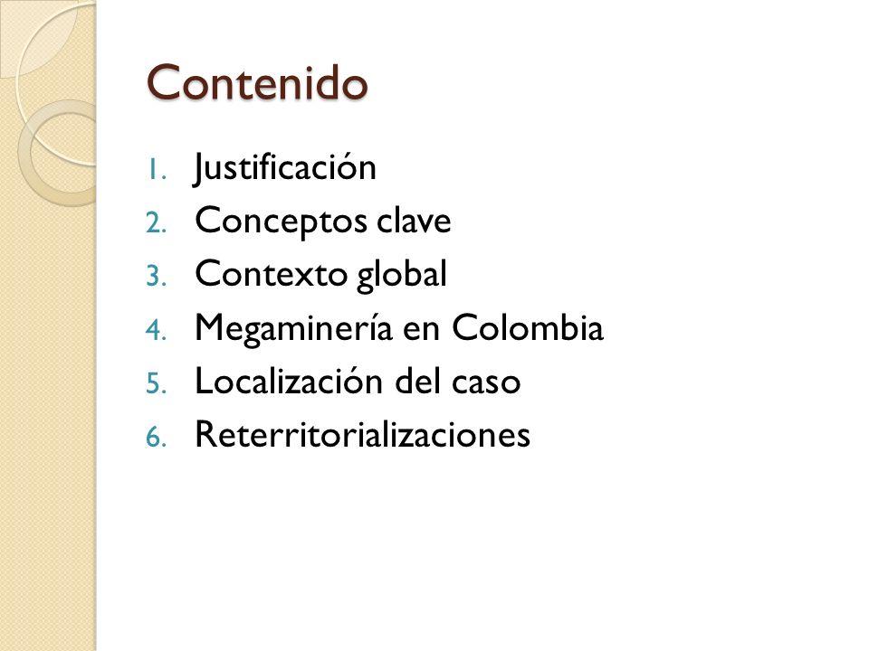 Contenido Justificación Conceptos clave Contexto global