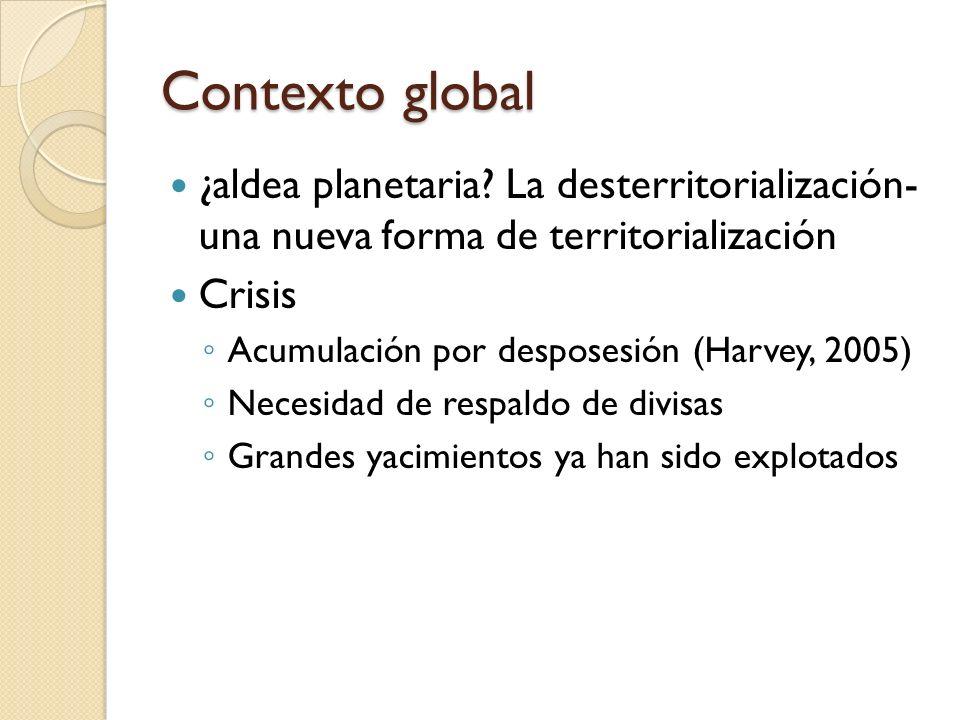 Contexto global ¿aldea planetaria La desterritorialización- una nueva forma de territorialización.