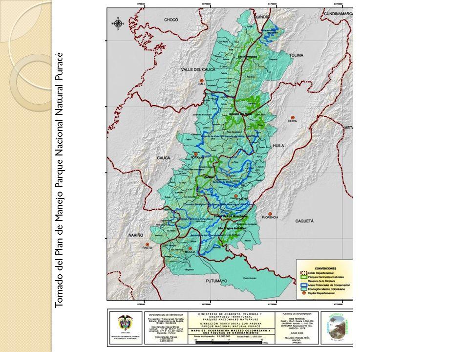 Tomado del Plan de Manejo Parque Nacional Natural Puracé