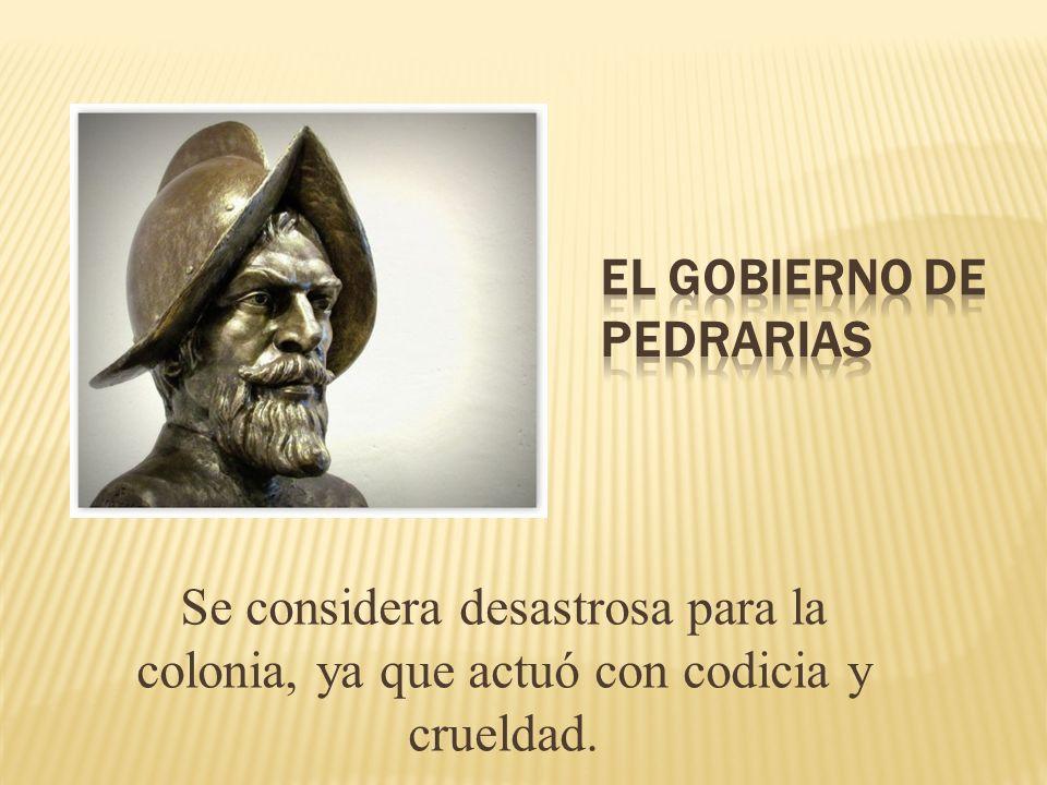 El gobierno de Pedrarias