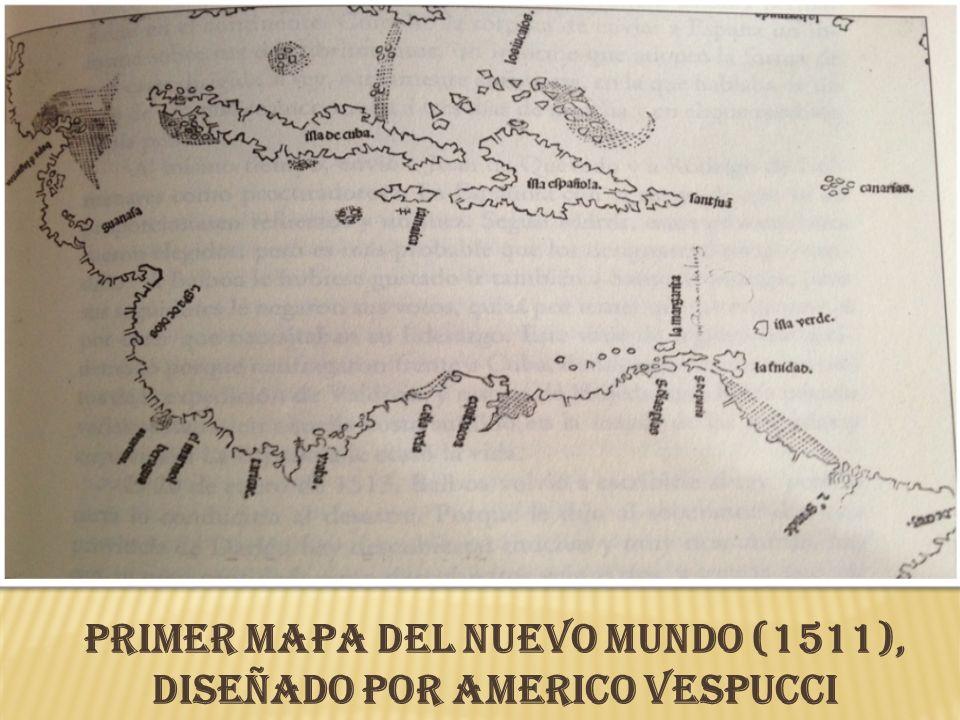 Primer mapa del Nuevo Mundo (1511), diseñado por Americo Vespucci