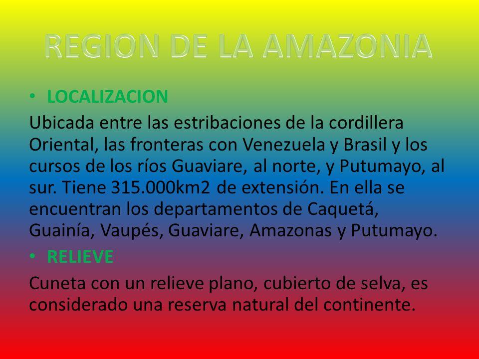 REGION DE LA AMAZONIA LOCALIZACION