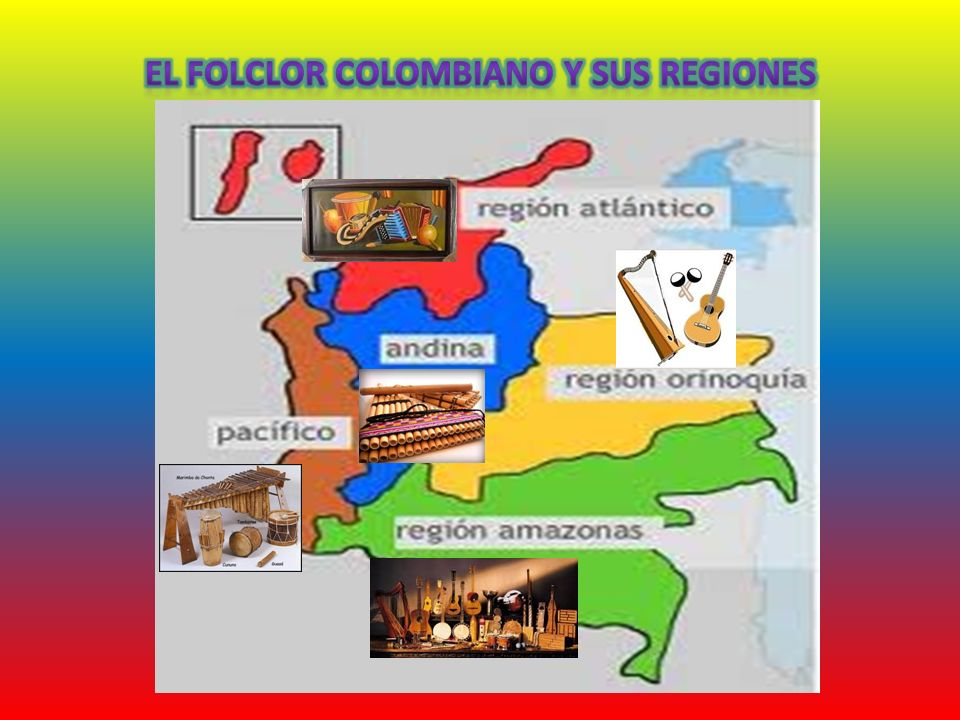 El folclor colombiano y sus regiones