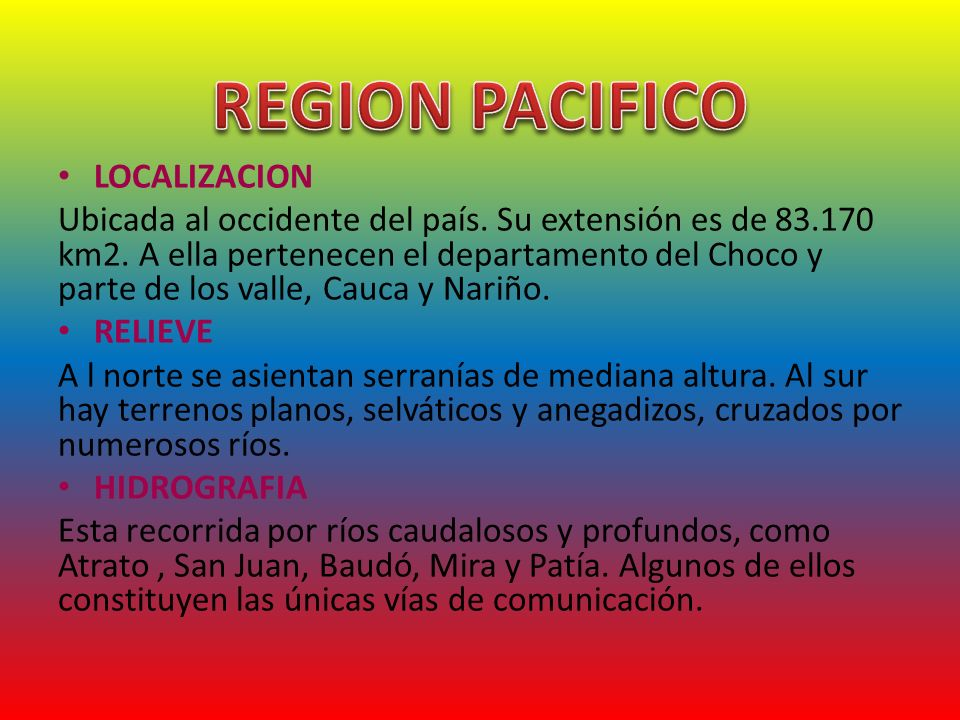 REGION PACIFICO LOCALIZACION