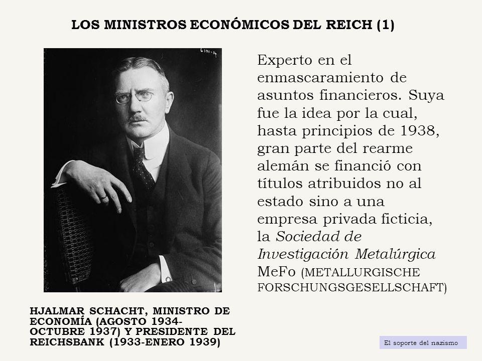 LOS MINISTROS ECONÓMICOS DEL REICH (1)