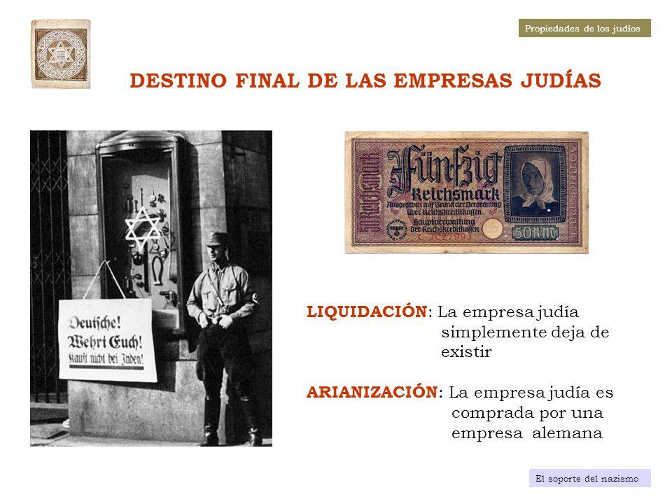 DESTINO FINAL DE LAS EMPRESAS JUDÍAS