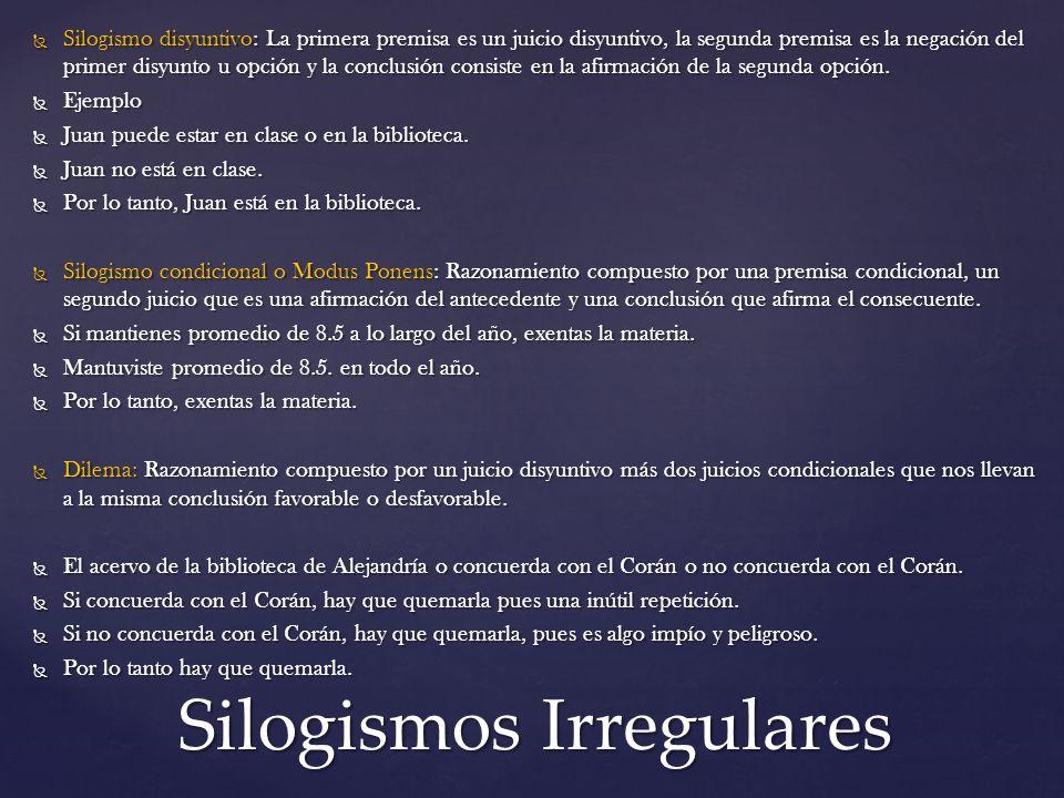 Silogismos Irregulares