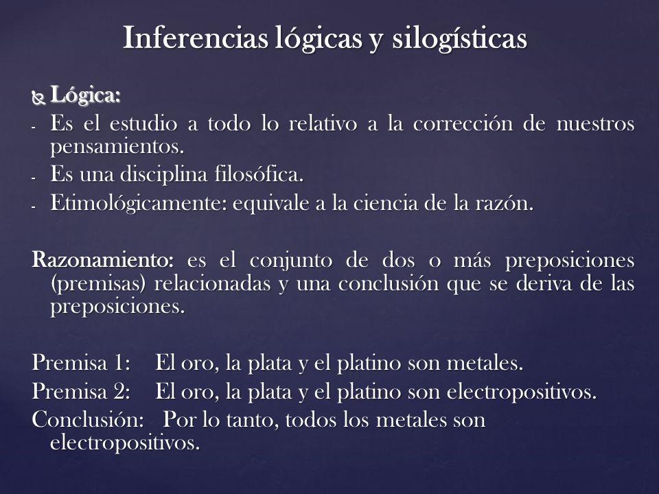 Inferencias lógicas y silogísticas