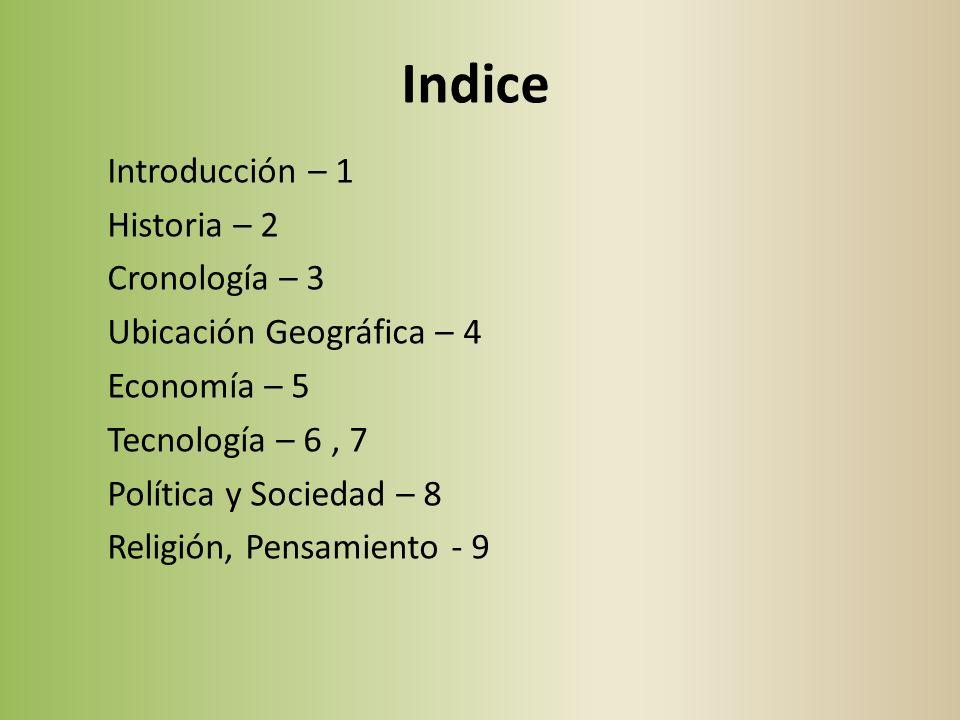 Indice Introducción – 1 Historia – 2 Cronología – 3