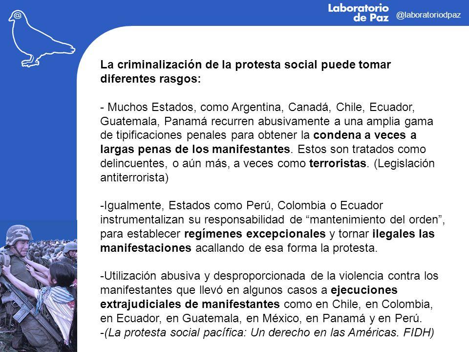 (La protesta social pacífica: Un derecho en las Américas. FIDH)