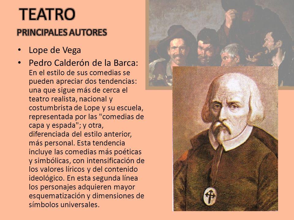 TEATRO PRINCIPALES AUTORES Lope de Vega