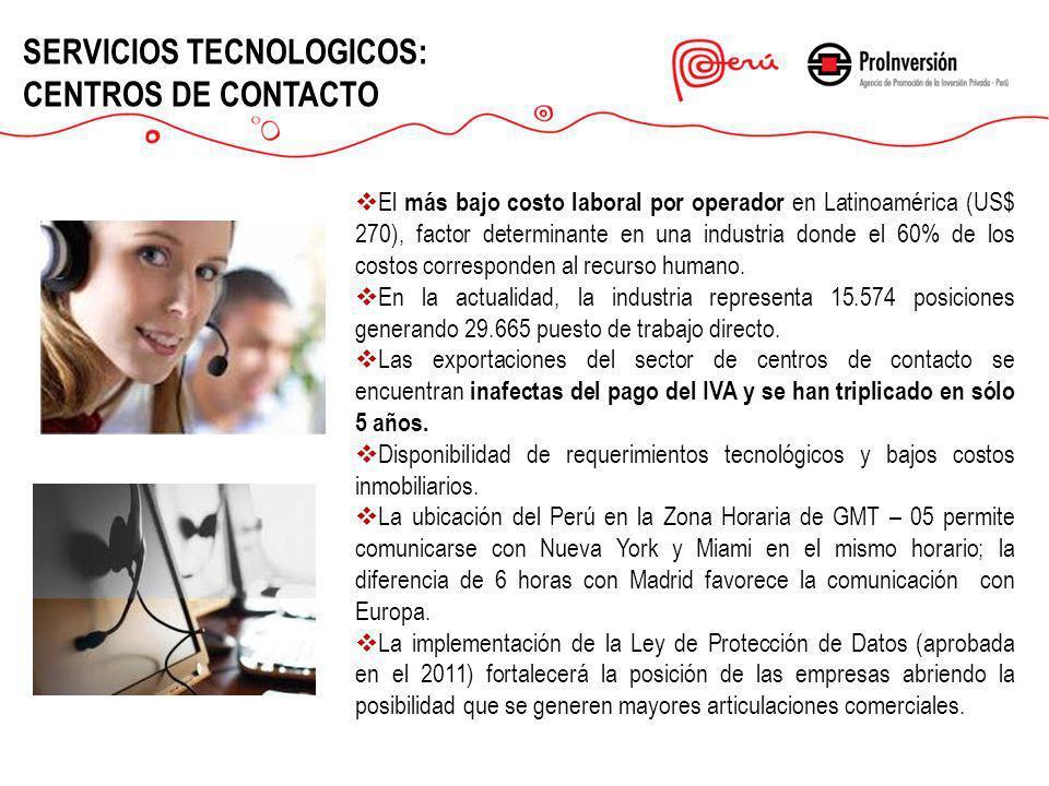 SERVICIOS TECNOLOGICOS: CENTROS DE CONTACTO