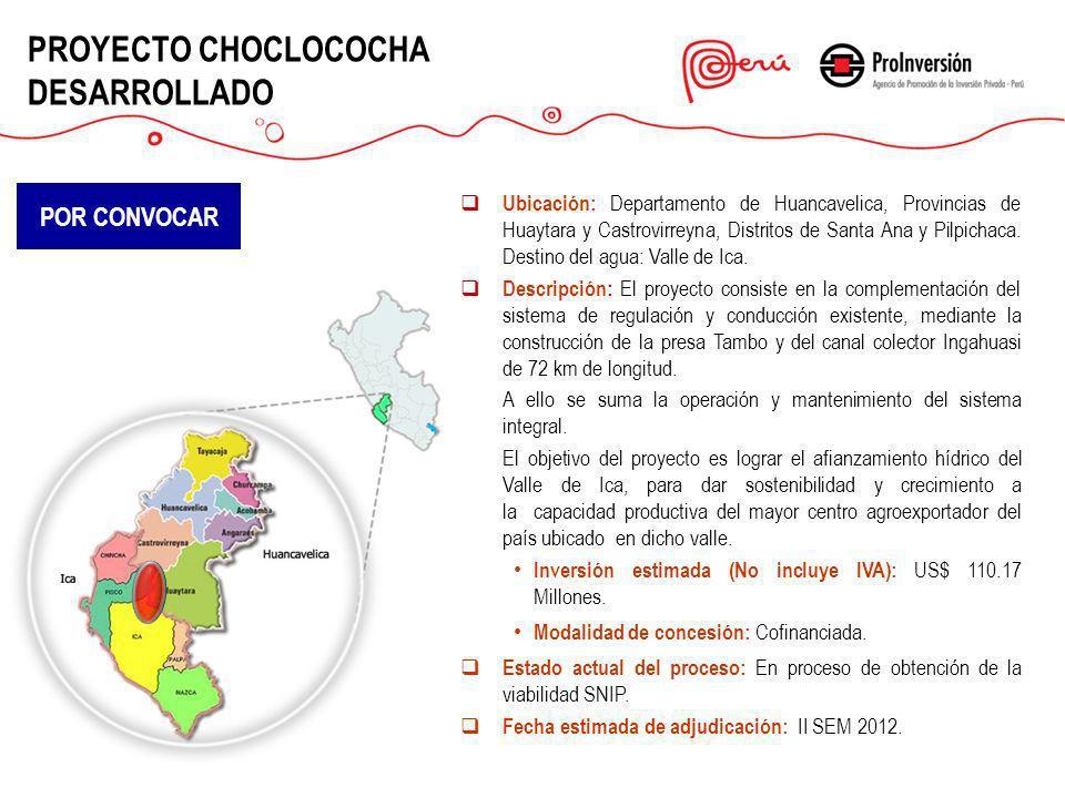 PROYECTO CHOCLOCOCHA DESARROLLADO