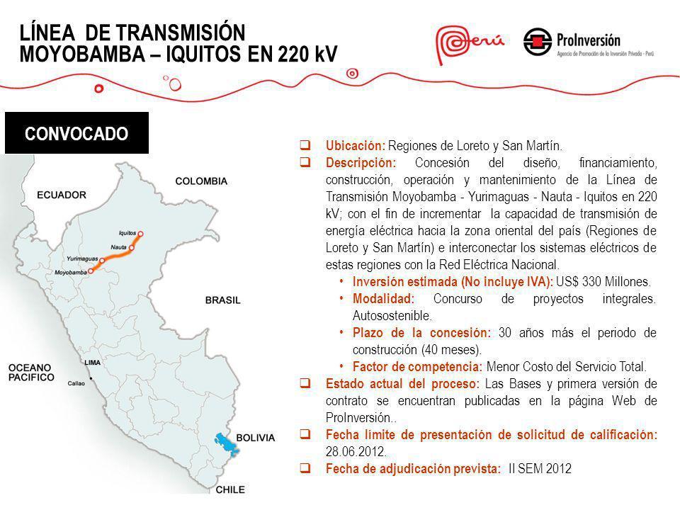 LÍNEA DE TRANSMISIÓN MOYOBAMBA – IQUITOS EN 220 kV