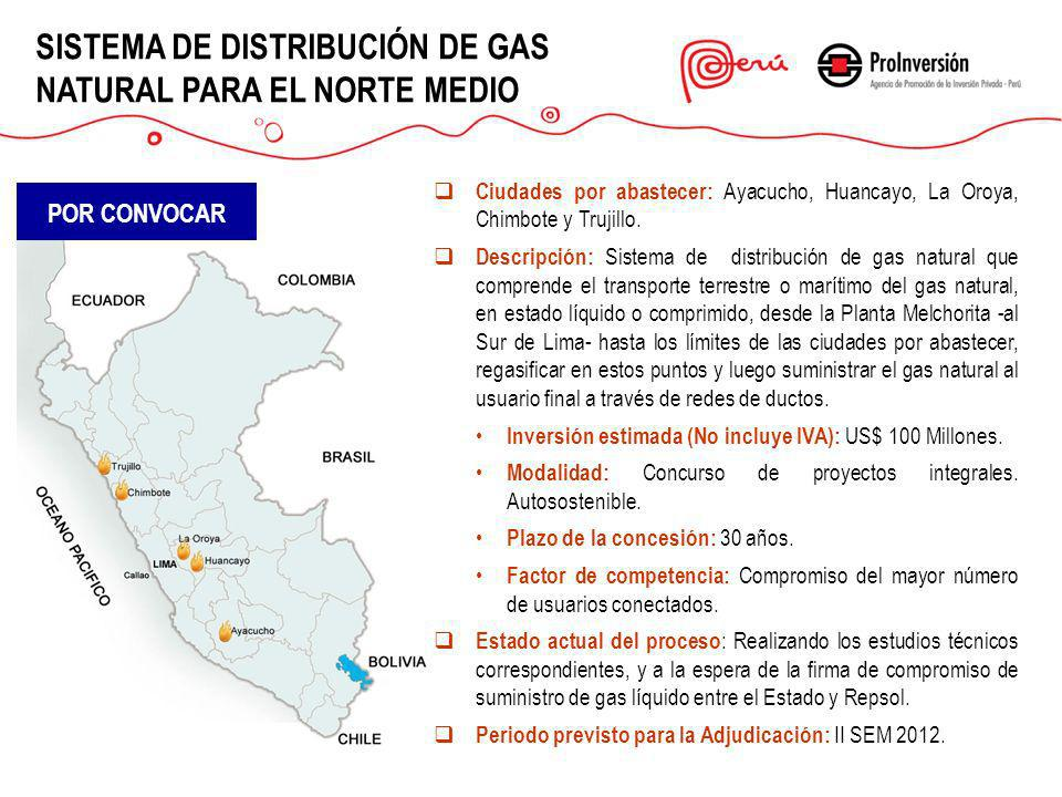 SISTEMA DE DISTRIBUCIÓN DE GAS NATURAL PARA EL NORTE MEDIO