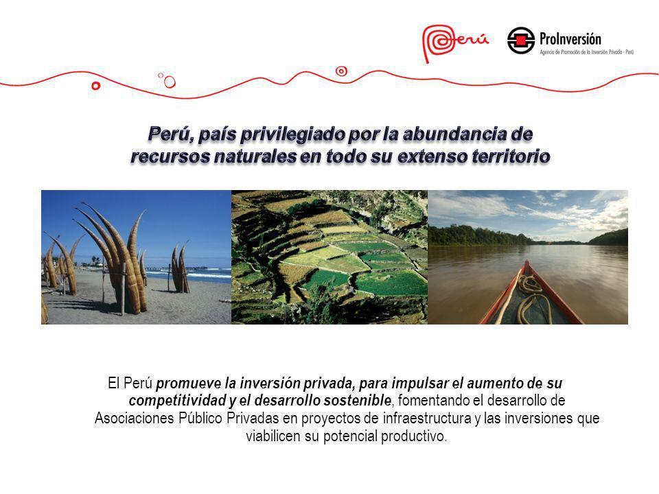 Perú, país privilegiado por la abundancia de recursos naturales en todo su extenso territorio