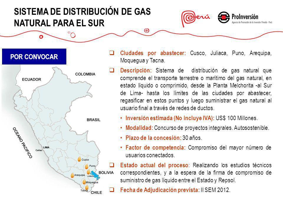 SISTEMA DE DISTRIBUCIÓN DE GAS NATURAL PARA EL SUR