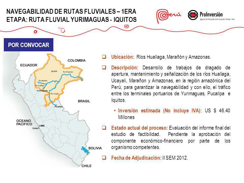 NAVEGABILIDAD DE RUTAS FLUVIALES – 1ERA ETAPA: RUTA FLUVIAL YURIMAGUAS - IQUITOS