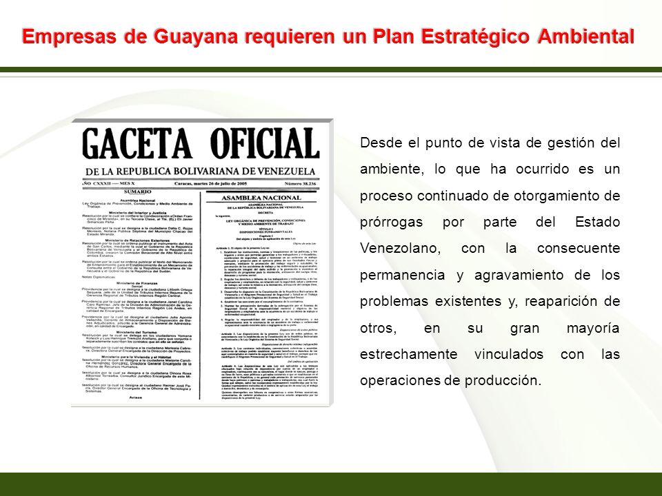 Empresas de Guayana requieren un Plan Estratégico Ambiental