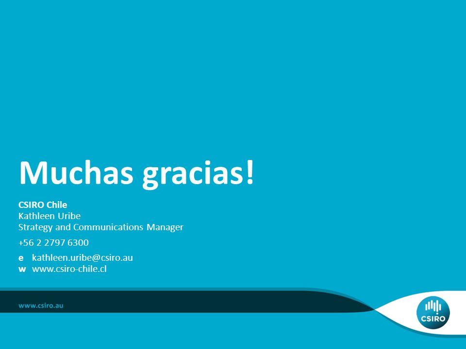 Muchas gracias! CSIRO Chile