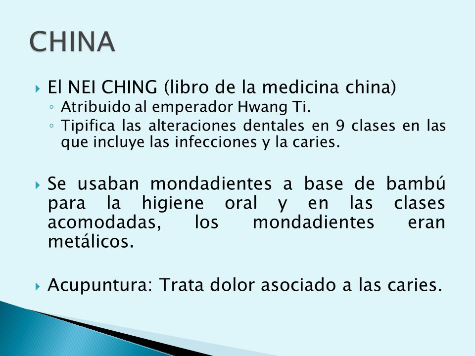 CHINA El NEI CHING (libro de la medicina china)