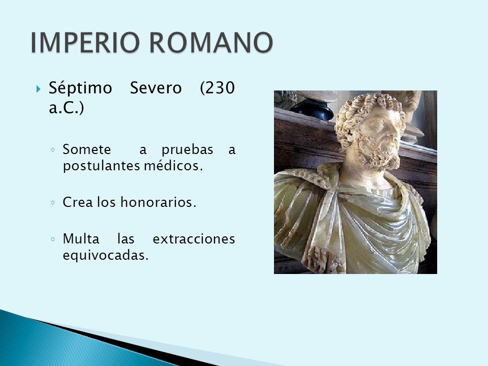 IMPERIO ROMANO Séptimo Severo (230 a.C.)